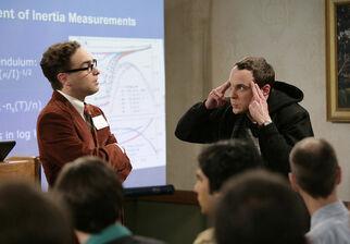 Sheldon distrupting the audience