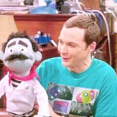 Sheldon with Gino the Neutrino.