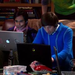 Searching for Sheldon's stuff.