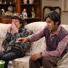 Raj and Howard shocked while watching
