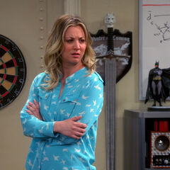 Penny looks worried.