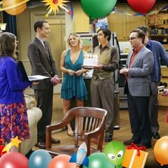 Singing Happy Birthday to Sheldon.
