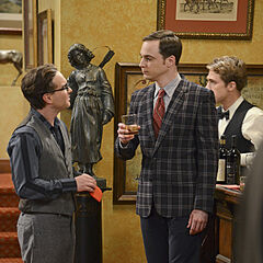 Sheldon and Leonard at Howard's bachelor party.
