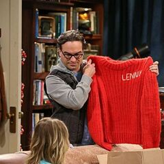 An itchy sweater Leonard has had for years.
