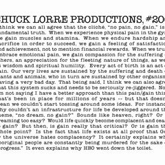 Chuck Lorre Productions, #206.