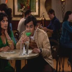 Raj drunk on his date.