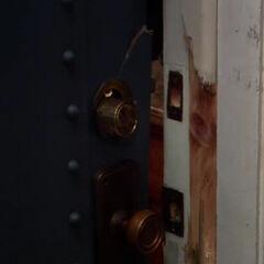 The door of Apartment 4A has been broken into.
