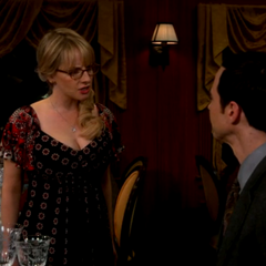 Bernadette yelling at Sheldon for ignoring Amy.