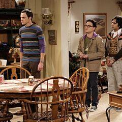 The guys come to take Sheldon back to Pasadena.