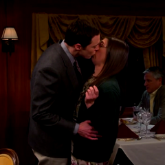 Sheldon likes kissing Amy.