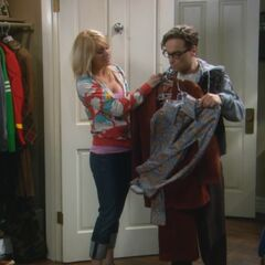 Helping Leonard chose his suit. Get rid of these shirts.