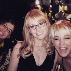 Actresses having fun.