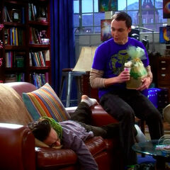 Sheldon and depressed Leonard.