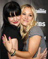 Kaley Cuoco with Pauley Perrette from NCIS.JPG