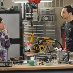 Sheldon asking Howard to meet hawking.