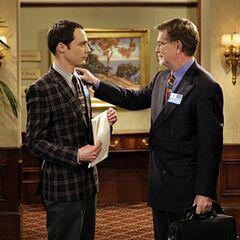 Nobel Prize winner Dr. George Smoot and Sheldon.