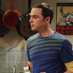Sheldon and his Snoopy snow cone machine.