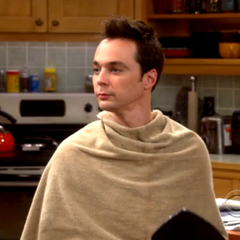 Sheldon after Penny styled his hair.