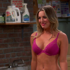 AR: penny trying to impress Sheldon.