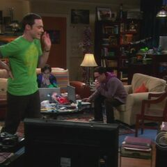 Sheldon while tracking down the thief.