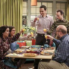 A toast to their friend Stuart.
