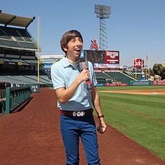 Howard at LA Angels' stadium.