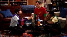 Howard, Raj and Sheldon play Jenga