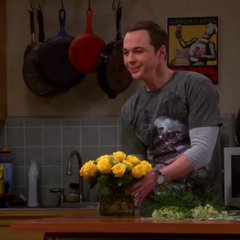 The roses he got for his mother.
