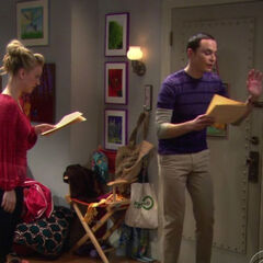 Sheldon doing his mother in his one act play.