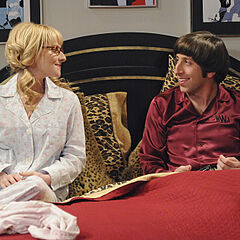 Bernadette and Howard in his room, discussing how he is making Sheldon do things for him.