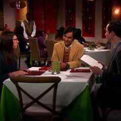 Raj on Shamy's date.