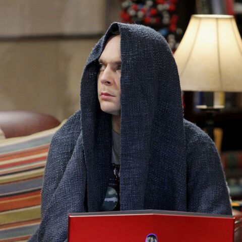 Sheldon with one of his laptops