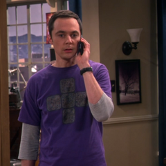 Sheldon telling Leonard about the breakup.