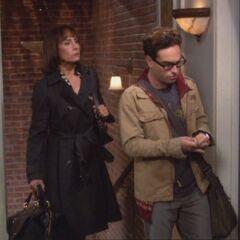 Leonard called Sheldon's mother.