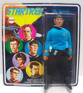 Vintage Mr. Spock Action Figure by Mego 1975-1977, 1979