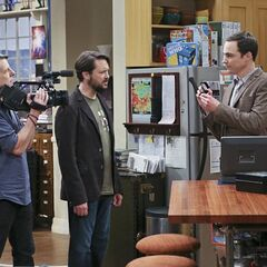 Sheldon showing them the ring he planned on proposing to Amy with.