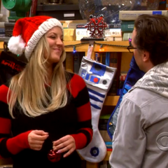 Penny's reaction to Leonard's Sheldon comment.
