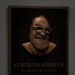 Bert's award plaque.