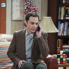 Sheldon inviting Amy over to watch him be interviewed.