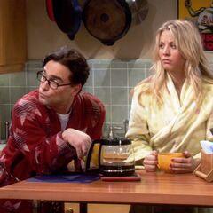 Startled after Sheldon tosses white board