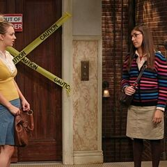 Amy tells Penny that Sheldon is still mad at her.