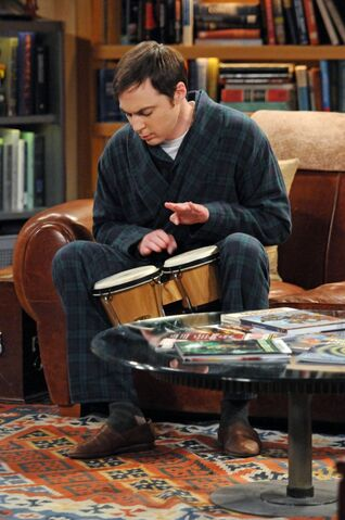 File:The Werewolf Transformation Sheldon plays the bongos.jpg