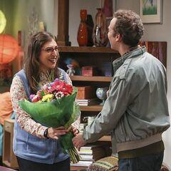 Stuart brought flowers.