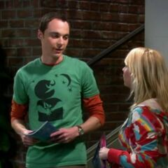 Penny and Sheldon.