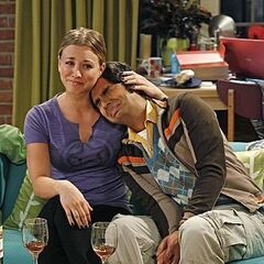 Penny comforting Raj after Emily leaves him.