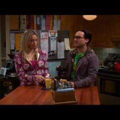 Penny explaining how Sheldon got sick just as Leonard predicted.