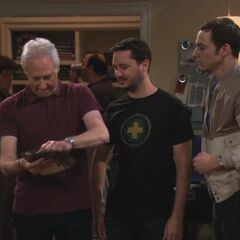 Brent Spiner rips open Sheldon's signed mint condition Wesley Crusher action figure.