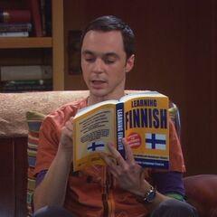Sheldon learning Finnish.