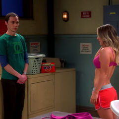 AR: Penny trying to tempt Sheldon, but Sheldon is saving himself for someone special.