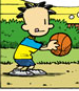 Nate holding a basketball
